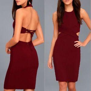 Lulus burgundy dress size small